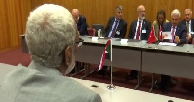 TBMM Başkanı Yıldırım Sudan Meclis Başkanı ile görüştü