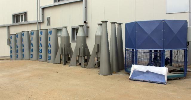 Van'da yerli üretim dolu önleme makinesi yapıldı