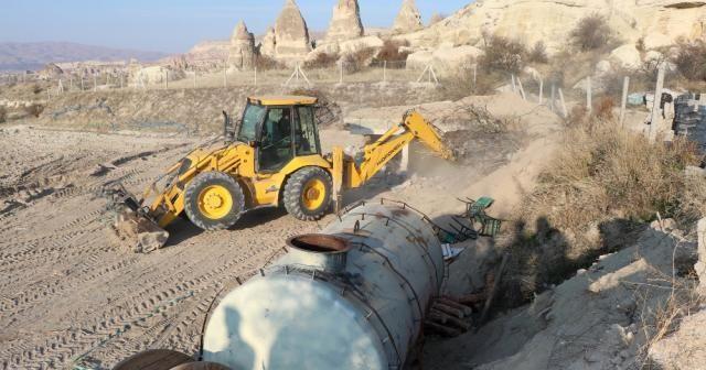 Üzeri toprakla kapatılmıştı: Bugün yıkıldı