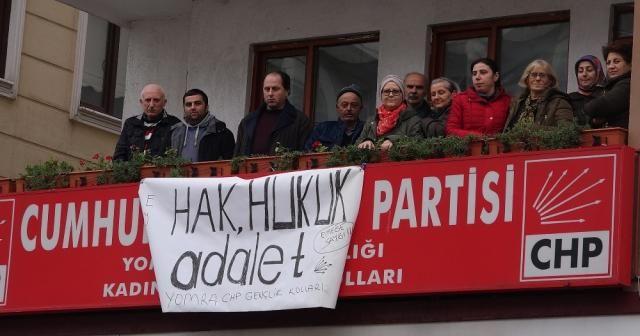 Görevden alınan CHP İlçe Yönetiminden eylem