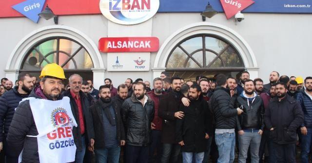 İZBAN işçileri grevde kararlı