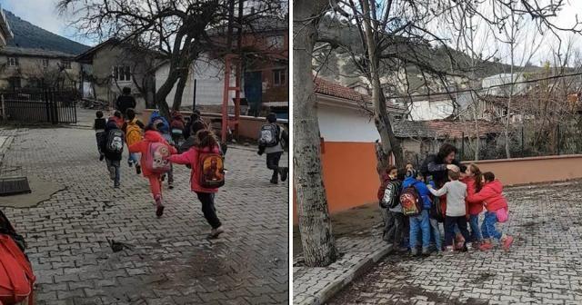 Öğretmen kaçtı, öğrenciler kovaladı