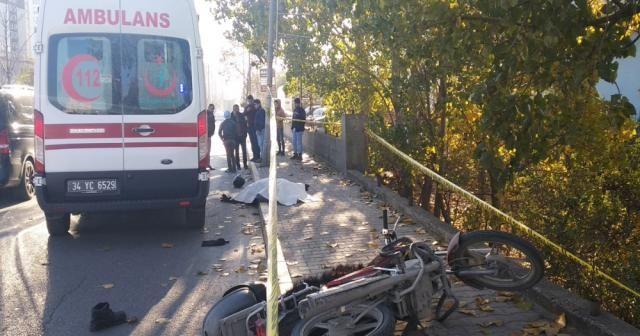 Suriyeli motosiklet sürücüsü kazada feci şekilde hayatını kaybetti
