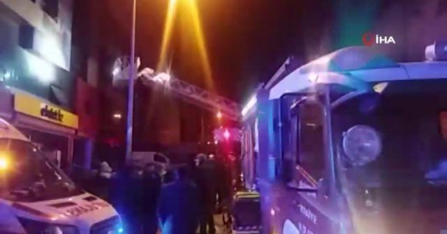 Ankara'da mobilya mağazasında yangın: 5 yaralı