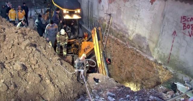 Arnavutköy'de inşaat alanında göçük