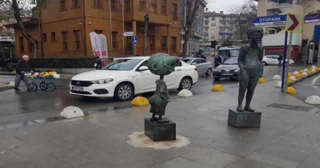 Avanak Avni heykelini çalan şüphelinin hapsi istendi