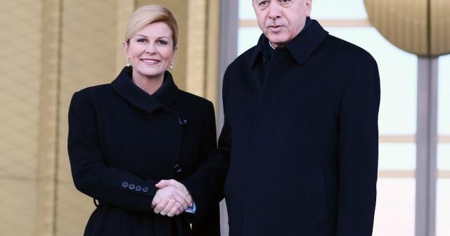 Erdoğan, Kitaroviç'i resmi tören ile karşıladı