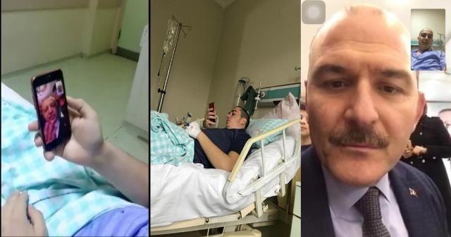Erdoğan ve Soylu lösemi tedavisi gören genci aradı