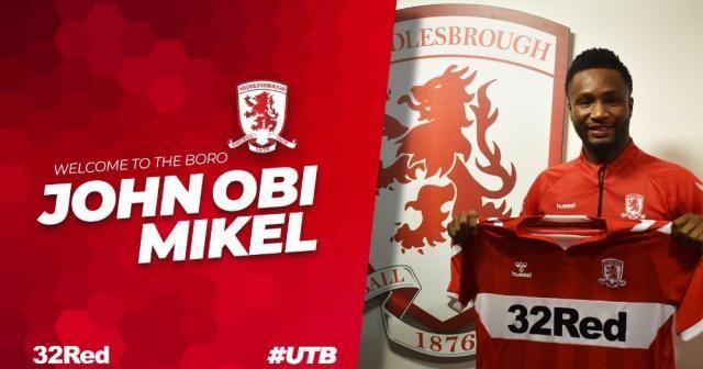 John Obi Mikel Middlesbrough'da
