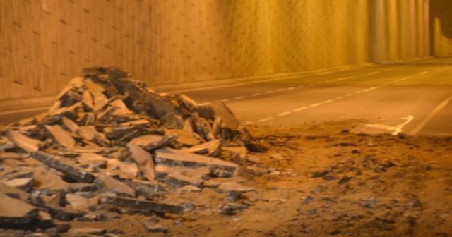 Kahramanmaraş'ta yol çöktü