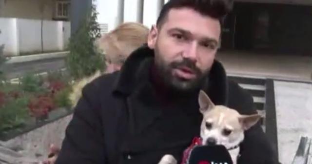 Ünlü şarkıcı ve köpeği mahsur kaldı
