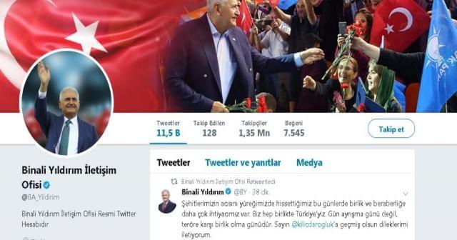 Binali Yıldırım'dan Kılıçdaroğlu'na saldırıya tepki