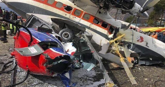 Nepal'de yolcu uçağı helikoptere çarptı: 3 ölü, 4 yaralı