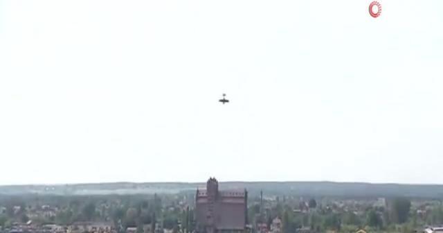 Akrobasi uçağı düştü