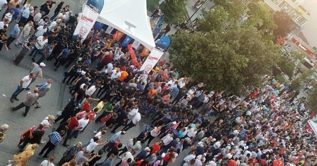 CHP'lilerden AK Parti standına tepki