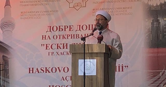 Diyanet İşleri Başkanı Erbaş, Hasköy Eski Cami'nin açılışını yaptı