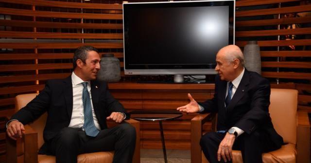 Fenerbahçe Başkanı Koç'tan MHP Genel Başkanı Bahçeli'ye ziyaret