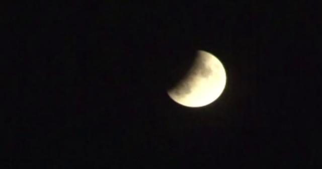 """""""Parçalı Ay Tutulması"""" kartpostallık manzara oluşturdu"""