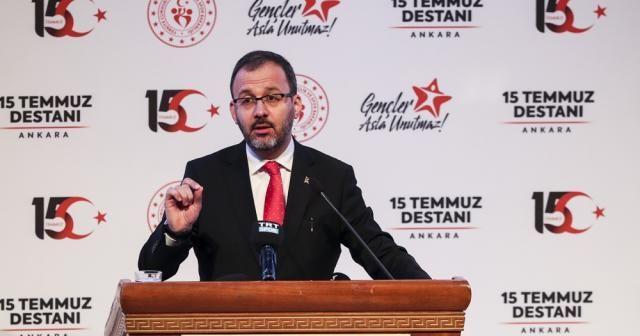 Bakan Kasapoğlu 15 Temmuz'un yıl dönümünde gençlerle buluştu