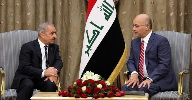 Irak Cumhurbaşkanı Salih, Filistin Başbakanı ile görüştü