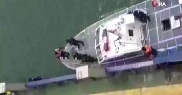 Nijerya'da saldırıya uğrayan Türk gemisinden yeni görüntüler