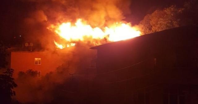 Ordu'da yıldırım isabet eden evde yangın çıktı
