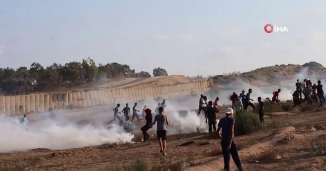 Gazze sınırında 122 kişi yaralandı
