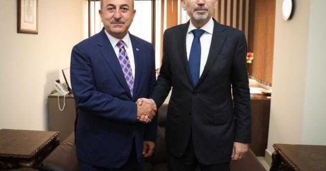 Bakan Çavuşoğlu Filistinli mevkidaşı Malki ile görüştü