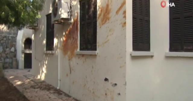 Girne patlama sonrası görüntülendi