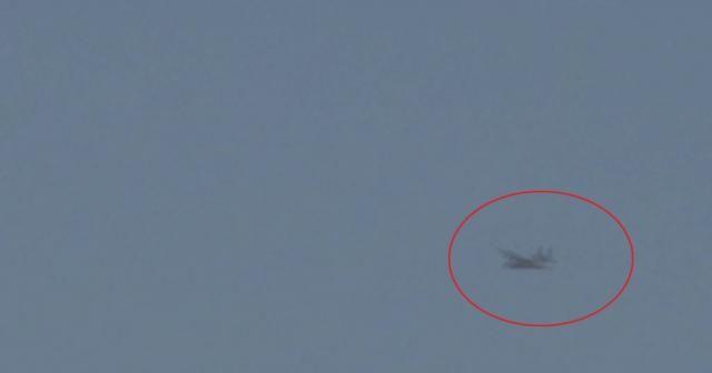 Suriye semalarında askeri kargo uçağı görüntülendi