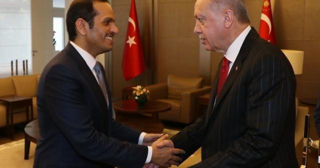 Katar Başbakan Yardımcısını kabul etti