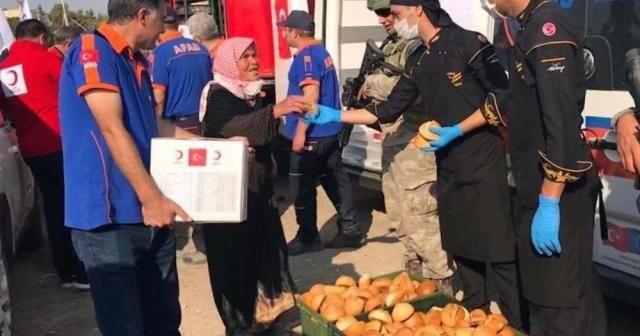 Mehmetçik'ten Tel Abyad'a yardım eli