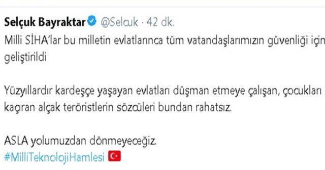 Selçuk Bayraktar'dan HDP'ye SİHA cevabı