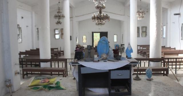 Tel Abyad'da tek kalan Ermeni kilisesi SMO sayesinde güvende
