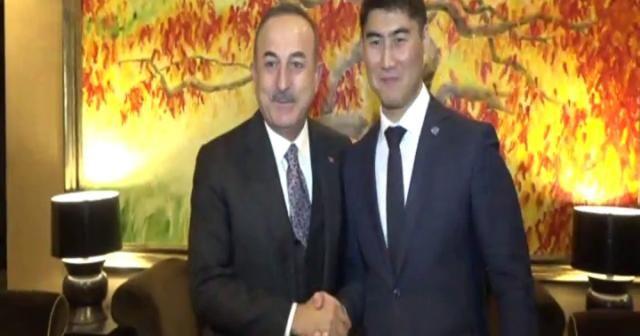 Bakan Çavuşoğlu, Kırgız mevkidaşı Aidarbekov ile görüştü