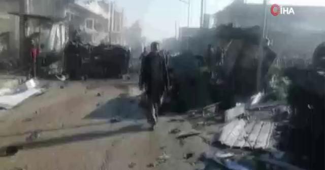 İdlib'de pazar yerine saldırı: 1 ölü