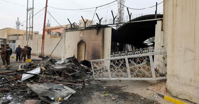 Irak'ta İran Başkonsolosluğu yine ateşe verildi
