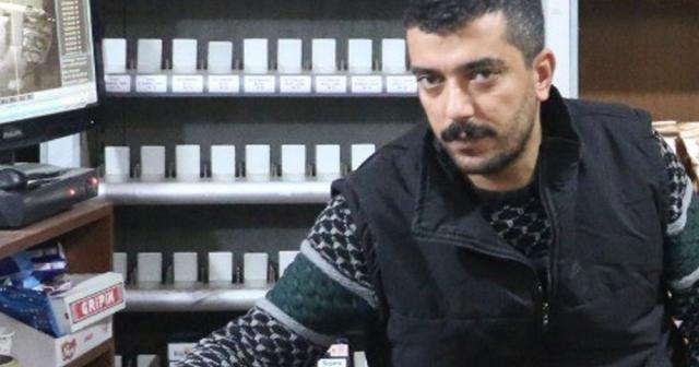 Siirt'te hırsızların marketten sigara çaldığı anlar kamerada