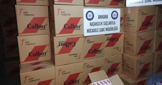Ankara'da 6 milyon 550 bin kaçak 'makaron' yakalandı