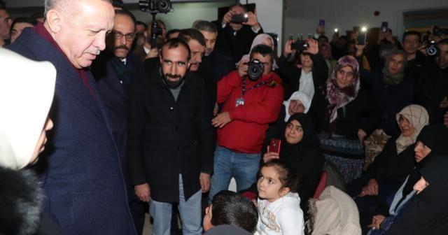 Cumhurbaşkanı Erdoğan Malatya'da deprem bölgesinde