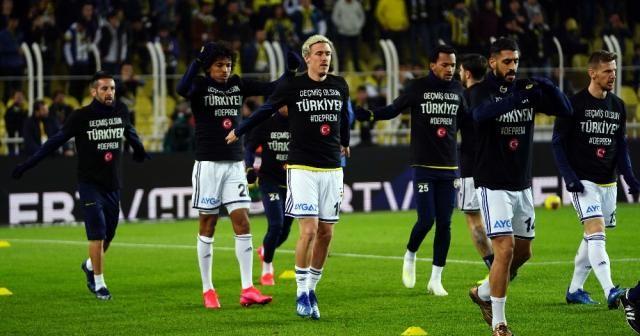 Fenerbahçeli futbolcular 'depremi' unutmadı