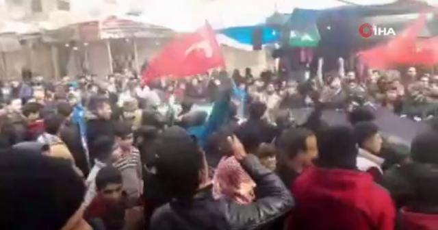 İdlib'te Türk askerine destek