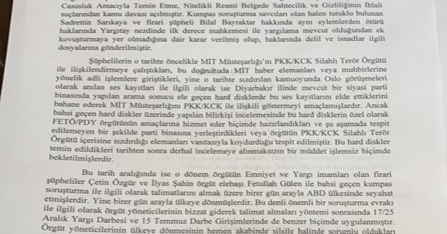 İstanbul Cumhuriyet Başsavcılığı MİT kumpasına ilişkin iddianame hazırladı