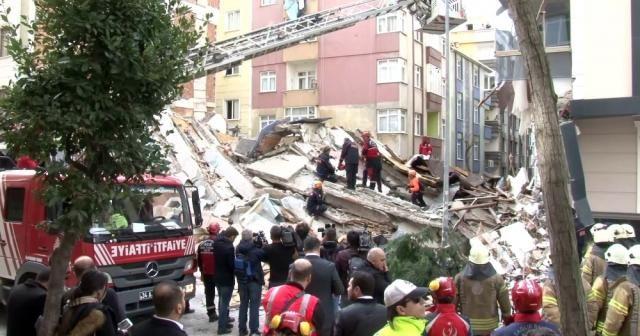 İstanbul Valiliğinden çöken binayla ilgili açıklama