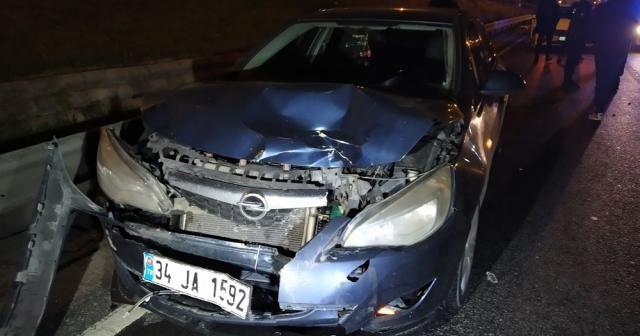 Makas atan sürücü zincirleme kazaya neden oldu: 1 yaralı