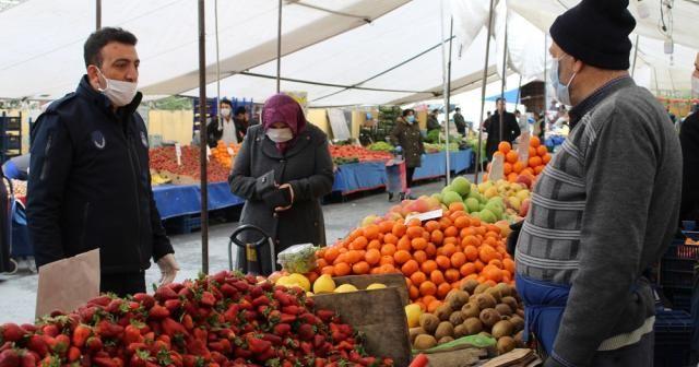 Eyüpsultan'da pazarcılara 3 metre uyarısı