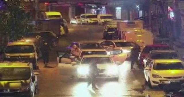 Kağıthane'de silahlı saldırı kamerada
