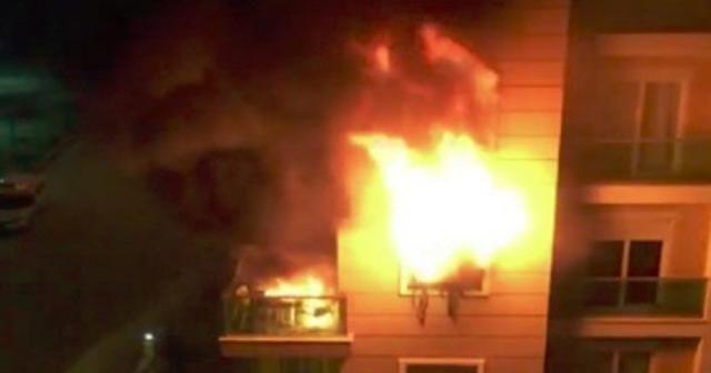 Lüks rezidansta yangın