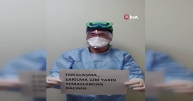 Sadi Konuk Hastanesi çalışanlarından vatandaşlara çağrı