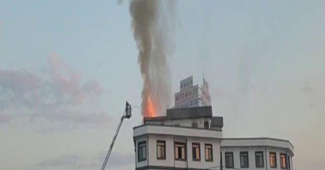 Termal otelde korkutan yangın